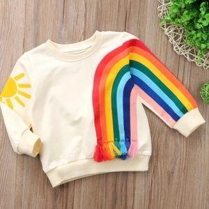 Toddler Girls Rainbow Print Sweatshirt | Size 120